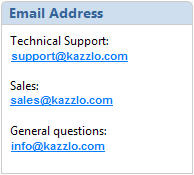 Kazzlo Email Addresses